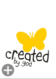 "Kids-Shirt ""created by god"""