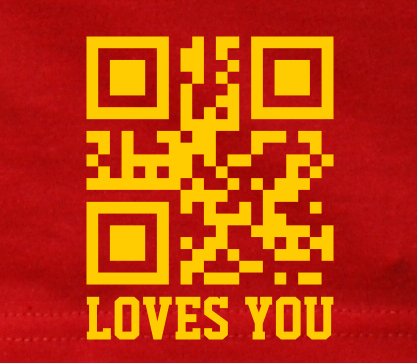 Jesus loves you (2D Code)