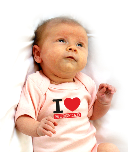 "Baby-Body ""I Love Mum&Dad"""