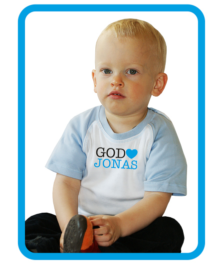 "Baby-Shirt ""God loves (Wunsch-Name)"""
