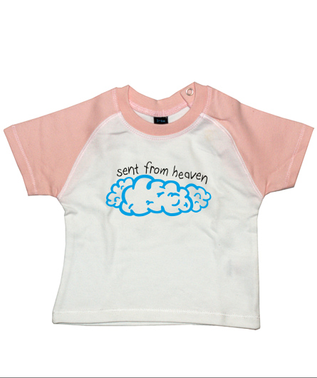 "Baby-Shirt ""sent from heaven"""