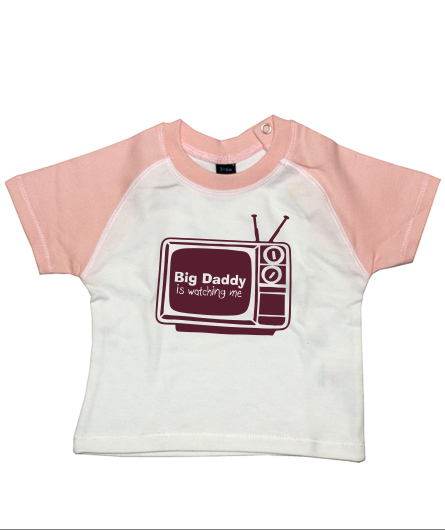 "Baby-Shirt ""Big Daddy is watching me"""