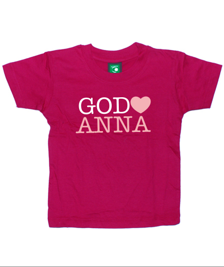 "Kids-Shirt ""God loves (Wunsch-Name)"""