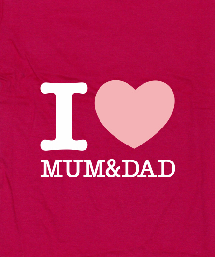 "Kids-Shirt ""I Love Mum&Dad"""