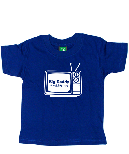 "Kids-Shirt ""Big daddy is watching me"""