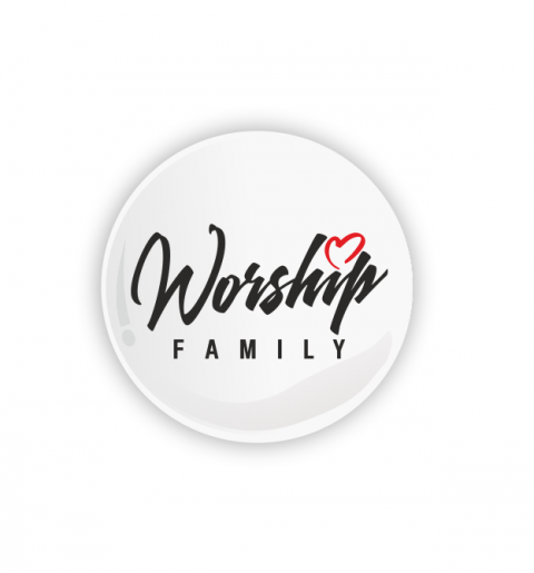 Ansteckbutton mit Worship-Family Logo